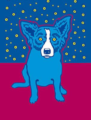 Blue Dog Reproduction Original by Nataniel Ignacio