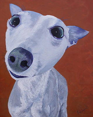 Painting - Blue Dog by Trish Campbell