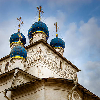 Church Lady Photograph - Blue Domes by Alexey Stiop