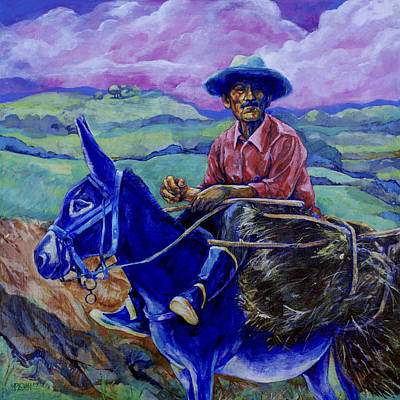 Blue Donkey Original by Derrick Higgins