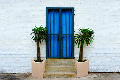 Frame House Photograph - Blue Door by Aged Pixel