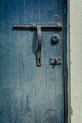 Photograph - Blue Door And Handle by James Hammond