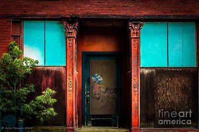 Photograph - Blue Door by Arne Hansen