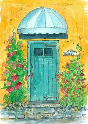 Painting - Blue Door At 7 Dobson  by Cathie Richardson