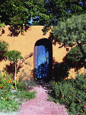 Old Door Photograph - Blue Door At Old Mesilla by Kurt Van Wagner