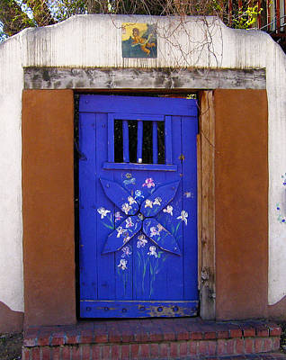 Photograph - Blue Door At Old Santa Fe by Kurt Van Wagner