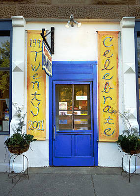 Photograph - Blue Door At The Bakery by Ann Powell