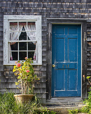 Maine Cottage Photograph - Blue Door by Benjamin Williamson