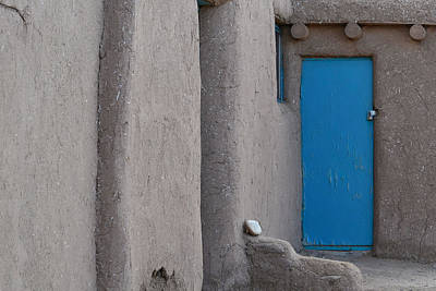 Photograph - Blue Door Gray Walls by Nadalyn Larsen
