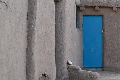 Photograph - Blue Door Gray Walls by Nadalyn Larsen