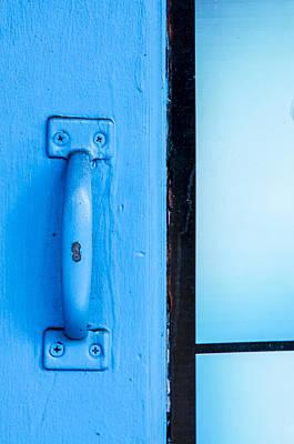 Photograph - Blue Door Handle by Carolyn Marshall