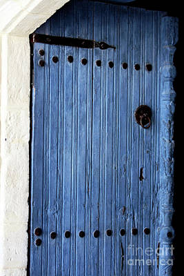 Photograph - Blue Door In Ayios Neophytos by John Rizzuto