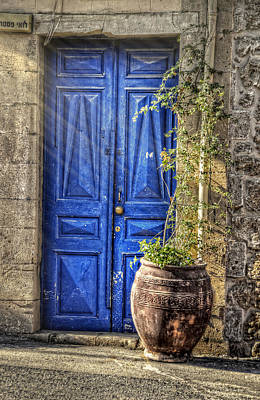 Photograph - Blue Door In Jaffa Israel by Ken Smith