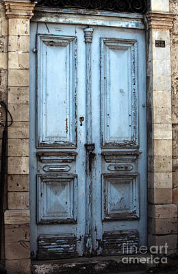 Cypriotic Photograph - Blue Door In Limassol by John Rizzuto