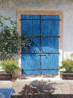 Larnaca Painting - Blue Door In Summer Light by Theo Michael