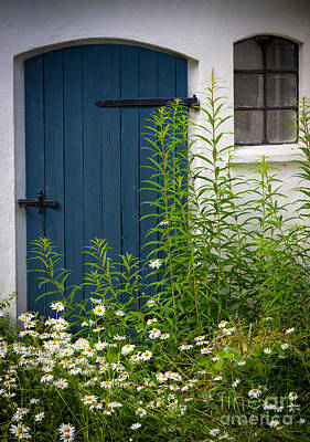 Sverige Photograph - Blue Door by Inge Johnsson