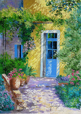 Abandoned Digital Art - Blue Door by Jean-Marc Janiaczyk