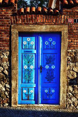 Prague Photograph - Blue Door by Joan Carroll