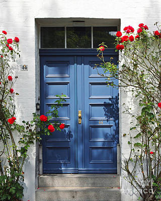 Lubeck Photograph - Blue Door by Kate McKenna
