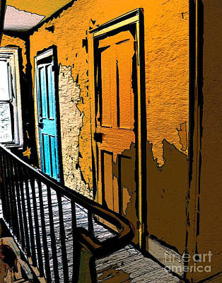 Digital Art - Blue Door Manchester Vermont by Dee Flouton