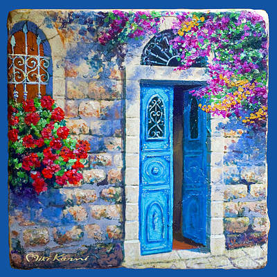 Painting - Blue Door by Miki Karni