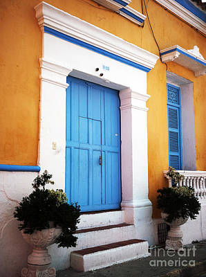 Of Artist Photograph - Blue Door Of Cartagena by John Rizzuto