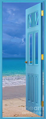 Photograph - Blue Door by Olga Hamilton