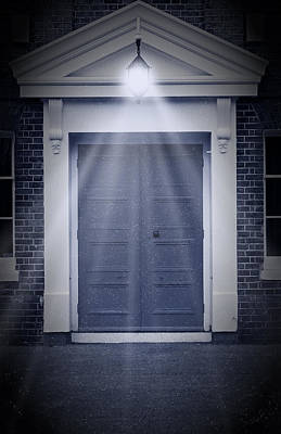 Haunted Mansion Digital Art - Blue Door by Svetlana Sewell