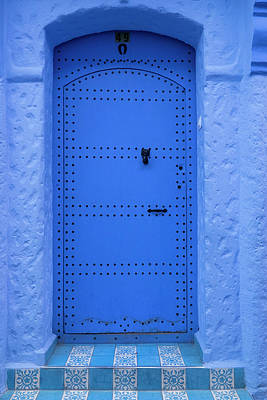 Photograph - Blue Door To House, Chefchaouen, Morocco by Danita Delimont