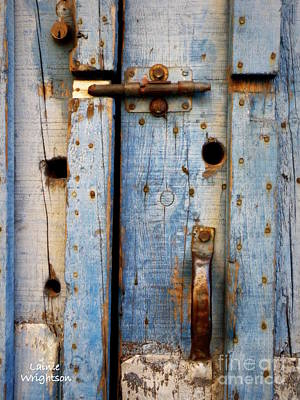 Blue Door Weathered To Perfection Art Print by Lainie Wrightson