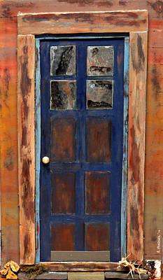 Blue Door Wyoming Art Print