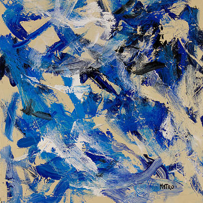 Wall Art - Painting - Blue Doves by Metro Meteor