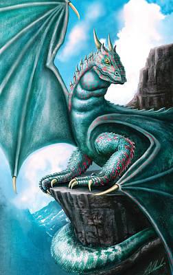 Digital Art - Blue Dragon by Anthony Christou