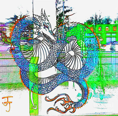 Photograph - Blue Dragon by Kelly Awad