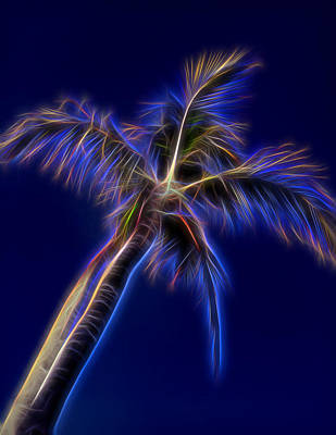 Mixed Media - Blue Electric by Pamela Walton