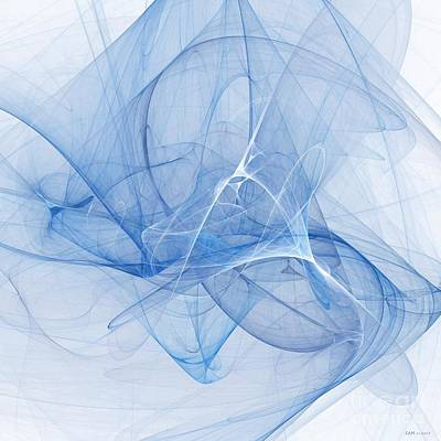 Abstract Digital Digital Art - Blue by Elizabeth McTaggart
