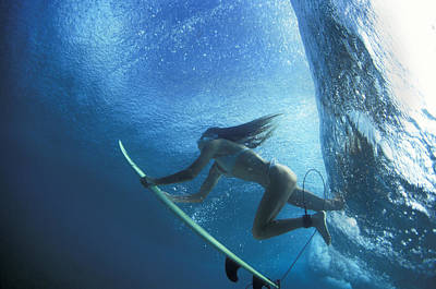 Under The Ocean Photograph - Blue Embrace by Sean Davey