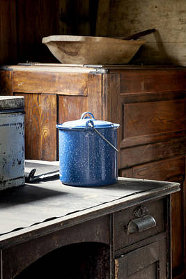 Photograph - Blue Enameled Pot by Lynn Palmer