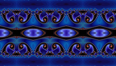 Blue Energy Abstract Art Print by Sabre Tooth