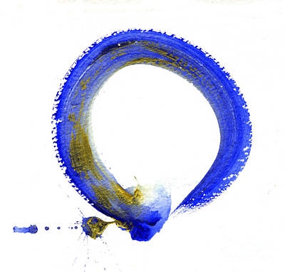Buddhist Painting - Blue Enso by Ellen Miffitt