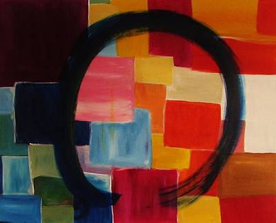 Zazen Painting - Blue Enso by Shelby Robbins