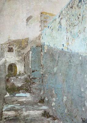 Painting - Blue Entrance by Florin Birjoveanu