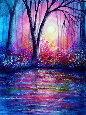 Valentine Painting - Blue Evening by Ann Marie Bone