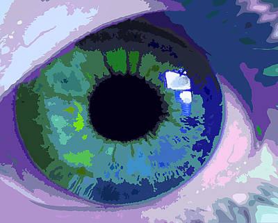 Digital Art - Blue Eye Abstract by Deborah Smith