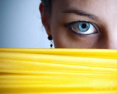 Eyelash Photograph - Blue Eye by Jelena Jovanovic