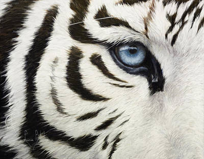 Tiger Painting - Blue Eye by Lucie Bilodeau