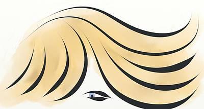Digital Art - Blue Eyed Ginger by Gina Lee Manley
