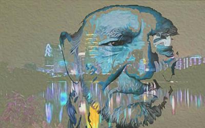 Painter Mixed Media - Blue Eyes Cryin' by Jimi Bush