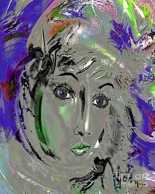 Portrait Digital Art - Blue Eyes by Doris Wood