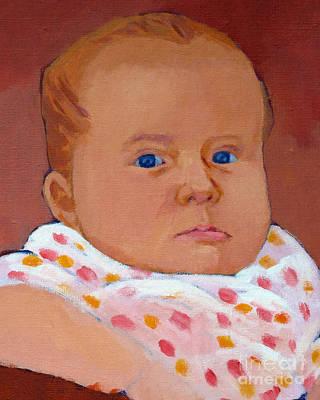 Painting - Blue Eyes by Lutz Baar